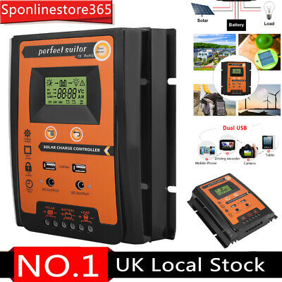 50A LCD Display MPPT Solar Panel Battery Regulator Charge Controller Dual USB • 27.99£