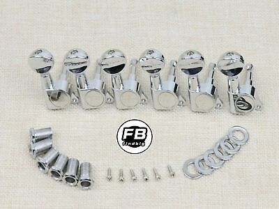 $ CDN16.86 • Buy String Tuning Pegs Gear Electric Guitar Tuners 6 In Line Machine Heads Chrome
