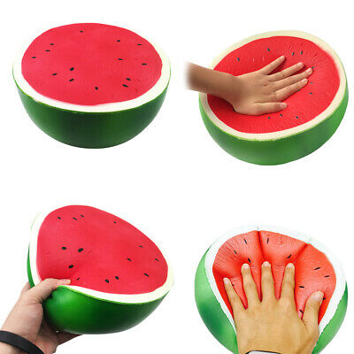 AU12.18 • Buy 1Pc Giant Jumbo Soft Watermelon Squeeze Toys Slow Rising Stress Rel CRAU