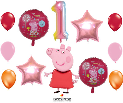 £2.99 • Buy 5pcs Large PEPPA PIG George Foil Balloons Birthday Party Decoration