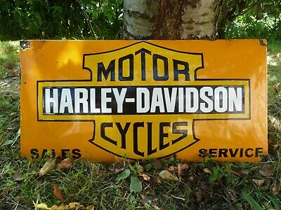 $ CDN157.67 • Buy HARLEY Porcelain Sign Vintage Motorcycle Advertising 23  Domed Collectible Biker