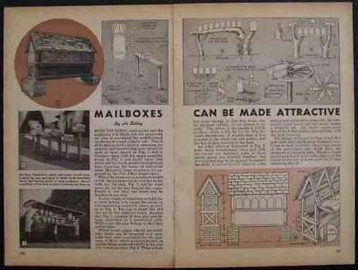 $5.29 • Buy Rural MAILBOX 1947 HowTo Design PLANS Multiple Box