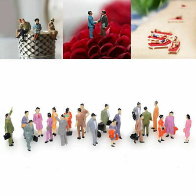 $3.28 • Buy 100X Scale 1:150 Mixed Painted Model Train Street Passenger Fig People Z0O7