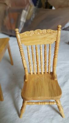 $7.99 • Buy Vintage Dollhouse Miniature Wooden Farmhouse Spindle High Back Chair,detailed,