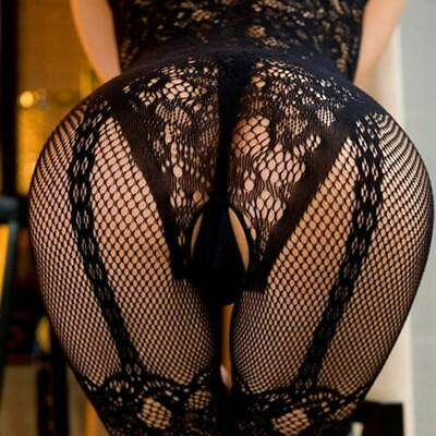 £3.79 • Buy Women Lace Mesh Crotchless Full Body Stocking Clothing Lingerie Jumpsuit Suits C