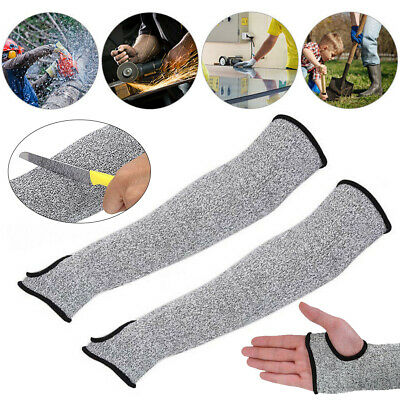 1PC/1Pair Safety Protective Arm Sleeve Guard Cut Proof Cut-Resistant Gloves UK • 5.99£