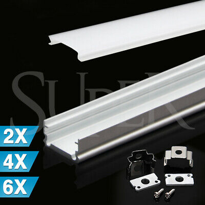 AU12.59 • Buy 1M Alloy Channel Aluminum Bar With Frosted Cover For LED Strip Light Profile