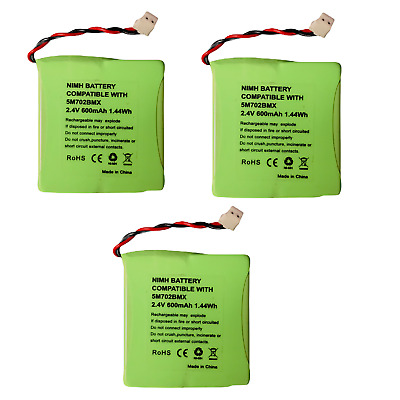£7.80 • Buy 3 X  2.4v 600mAh Rechargeable Battery For BT Verve 450 410 Cordless Phone