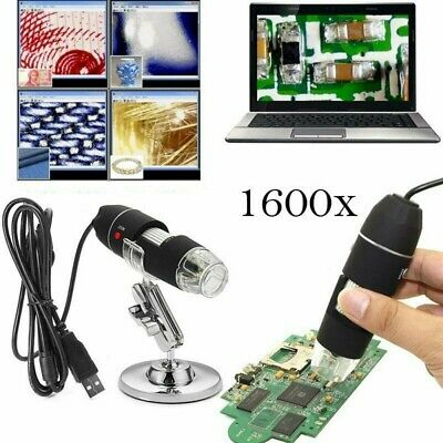 1600X Zoom 8 LED USB Microscope Digital Magnifier Endoscope Camera Video Stands • 16.29£