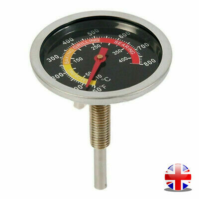 £6.85 • Buy Stainless Steel Barbecue Thermometer Grill Temperature Meter Gauge 50-400℃ - UK