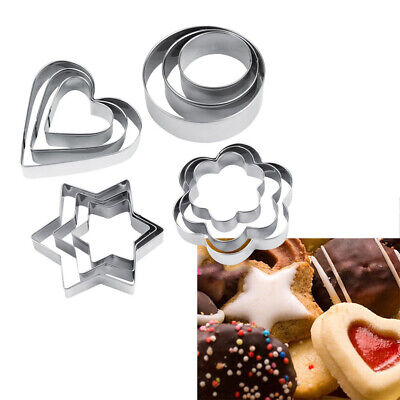 Shape DIY Kitchen Tool Pastry Mould Stainless Steel Biscuit Mold Cake Cutter • 2.41£