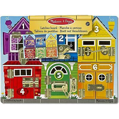 Melissa & Doug Bright Wooden Latches Activity Board - Fine Motor Skills Toy - 3+ • 20£