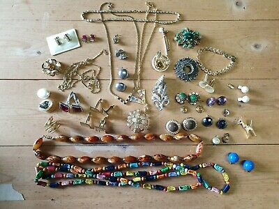 Job Lot Collection Costume Vintage Jewellery  • 8.10£