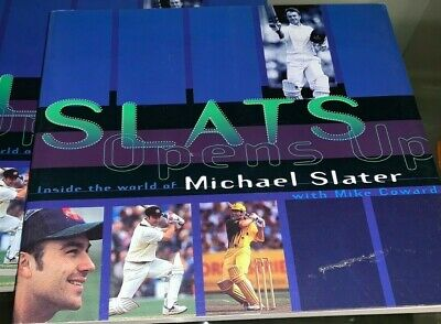 AU125 • Buy Michael Slater Signed Slats Opens Up: The Cricket World Of Michael Slater Book
