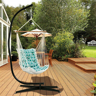 Heavy-Duty Hammock C-Stand For Hanging Suspended Rocking Chair Garden Camping • 94.97£