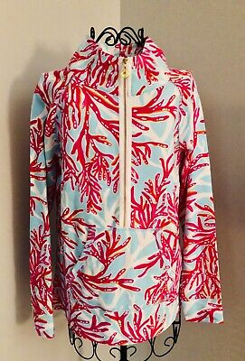 $45 • Buy Lilly Pulitzer Cotton Tunic Jacket With 3/4 Zip NWT Size M