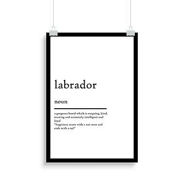 Labrador Definition, Print, Quote, Posters, Gift, Gifts, Wall Art, Dog • 5.50£