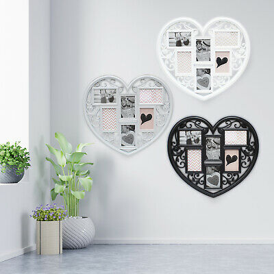 Heart Shaped Photo Large Wedding Frame Love Wall Hanging Multi Collage 6 Picture • 12.99£