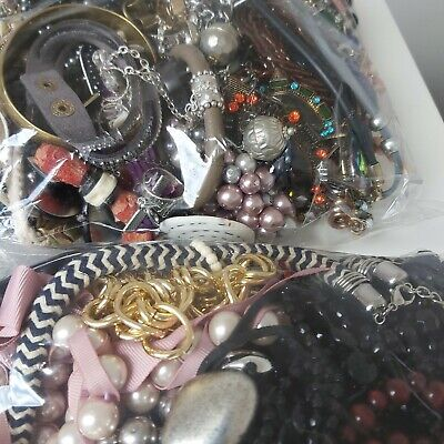 Huge 8KG Bundle Mixed Costume Jewellery Joblot Resell Craft Wear Dress Up • 4.99£