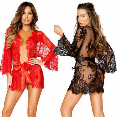 Womens Sexy Dress Sleepwear Ladies G-String Underwear Lingerie Nightwear Set UK • 5.99£