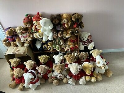 Collection Of Rare Harrods Christmas Bears 1987 - 2020 • 1,375£