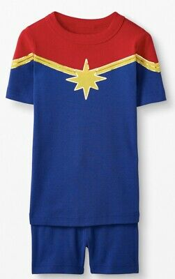 $26 • Buy NWT Hanna Andersson CAPTAIN MARVEL SHORT JOHNS Kids Pajamas Sz 6-7 (120)
