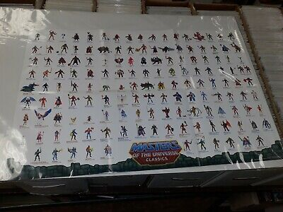 $34.99 • Buy Motu Masters Of The Universe Classics Figure Checklist Folded Poster