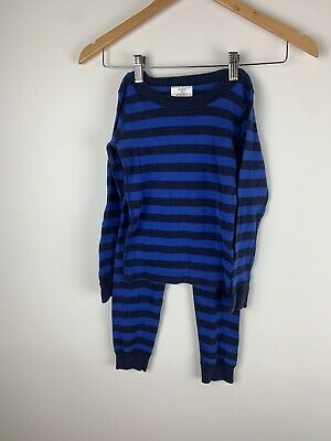 $0.99 • Buy Hannah Andersson Organic Cotton Striped Pajamas Size 110 Pants Long Sleeve