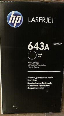 Genuine Original HP Q5950A (643A) Black Toner Cartridge (2 Toners) • 350£