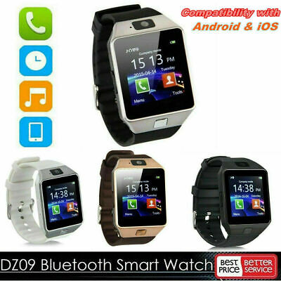 AU13.37 • Buy DZ09 Bluetooth Smart Watch Camera Phone Mate GSM SIM Samsung For Android M8Q4