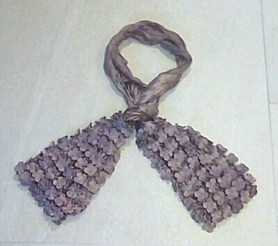 POWDER Crinkle Embossed Textured Scarf Flowers Clover Brown New Without Tags  • 9.99£