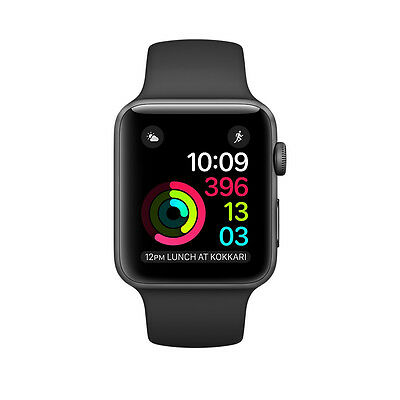 $ CDN85.73 • Buy Apple Watch Series 2 42mm Aluminium Case Black Sport Band. Used - Good Condition