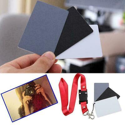Digital Color Balance 18% Gray Card 3in1 Black Grey For Photography White E7G6 • 2.23£