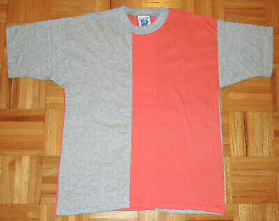 $ CDN40.81 • Buy T Shirt Vintage 80s Normcore Color Block Single Stitch Pacific Crew Acrylic MED