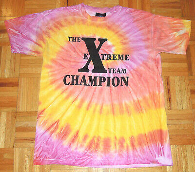 $ CDN50.33 • Buy T Shirt Vintage 90s Tie Dye Extreme Team Psychedelic Hipster Single Stitch Large