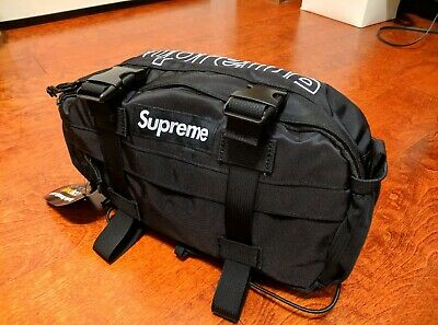 $ CDN278.83 • Buy Supreme Waist Shoulder Bag Black FW18 100% Authentic Backpack Camp Cap Tshirt