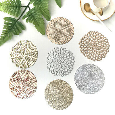 AU5.86 • Buy Set Of 6 PVC Place Mats And Coasters Dining Table Placemats Non-Slip Washable