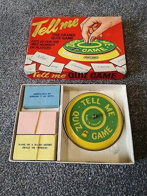 VINTAGE TELL ME QUIZ GAME BY SPEARS 1960s WITH METAL SPINNER FREE POST • 9.99£