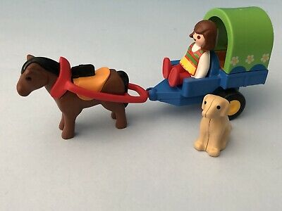 Playmobil 123 Horse & Cart With Dog SEE PICS • 4.49£