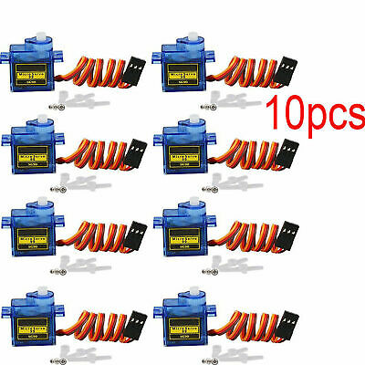 AU17.89 • Buy 10pcs 9G SG90 Mini Micro Servo Motor For RC Robot Helicopter Airplane Car Boat