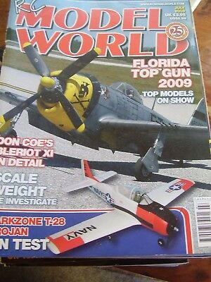 Rcmw Rc Model World - July 2009 Long Eazy Plan Bleriot Xl Parkzone T-28 • 5.99£