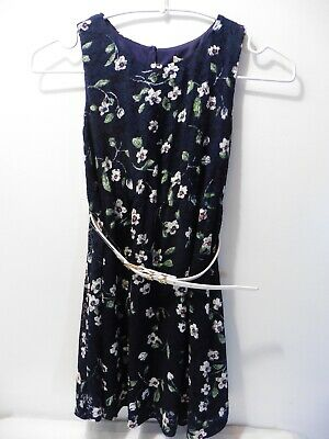 Yumi Girls Navy Floral Soft Lace Dress BNWT 5-6 Years • 7.49£