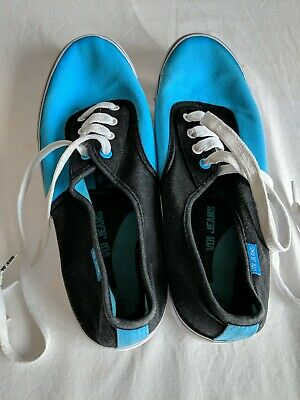 Voi Jeans Blue, Black Trainer Pumps Neon White Soles Size 9 • 4£