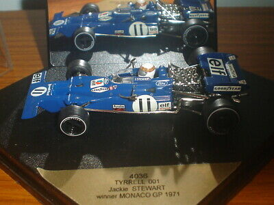 Quartzo Tyrrell 001 - Jackie Stewart - Monaco GP - 1971 -1:43 - Rare Collectable • 29.99£