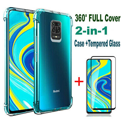 $2.99 • Buy Case + Tempered Glass For Xiaomi Redmi Note 9S 9 8 Pro 8A Screen Protector Cover