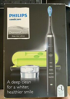 View Details PHILIPS HX9351/52 Sonicare DiamondClean Electric Toothbrush Black NEW BOXED • 93.00£