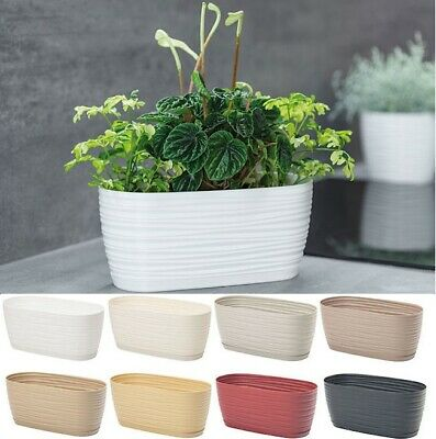 Trough Plant Pot Long Plastic Box Planter Succulent Garden Window Herb Flower • 7.99£