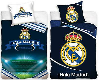 Real Madrid 2 X Football Bedding Reversible Duvet Bedding Bed Ware Set • 62.22£