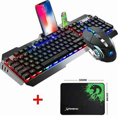 AU53.89 • Buy Gaming Keyboard And Mouse Combo Bundle Set RGB Wired USB For PC Laptop PS4 Xbox