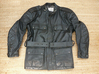 Crusader Leathers - Ex Police Black Leather Motorcycle Jacket • 60£